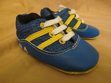 New Baby Boy's Fila Blue & Yellow Crib Shoes Size 6-12 Months - Never Worn!!