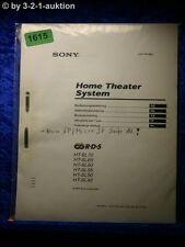 Sony Bedienungsanleitung HT SL70 /SL65 /SL60 /SL55 Home Theater System (#1615)