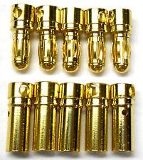 C0351x5 RC connettore 3,5 mm PLACCATO ORO MASCHIO e femmina pallottola BANANA x 5 SET