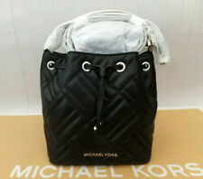 Michael kors Genuine Peyton Chevron Quilted Leather Xs Crossbody Bucket Bag BNWT