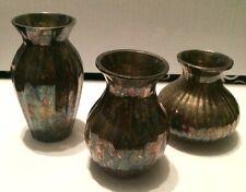 Restoration Hardware Silver Vases (set of 3)