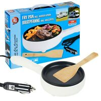 Portable 12V Plug In Travel Frying Pan Caravan Car Camper Van Truck Cooking Pot