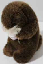Vintage 1985 CHARM CO. BEAVER HOLDING BALL Stuffed Plush Animal SOFT TOY Cute