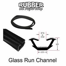"Universal Window Run Channel - Flexible - 5/8"" Tall X 1/2"" Wide - 8' Strip"