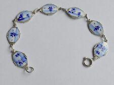 Pulsera esmaltes 830 s plata vintage 70er Bracelet Silver