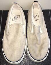 Boys Beige Canvas Shoes Size 12 Gap<NH10155