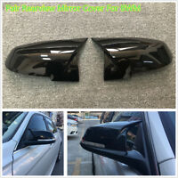 Pair Replacement Glossy Blk Rearview Mirror Cover FitFor BMW E84 F20 F22 F30/F33