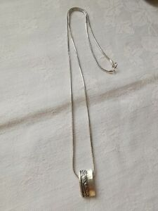 Sterling Silver Pretty Design Necklace (Selling Matching Earrings)