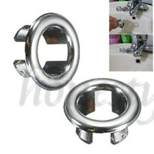 4pcs Bathroom Basin Sink Spare Round Overflow Cover Trim Chrome Replacement