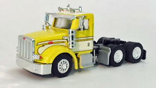Promotex Peterbilt 367 Yellow/White Tandem Axle Tractor Day Cab 1/87 HO #6568