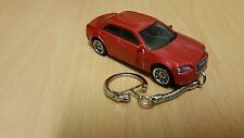 Diecast Chrysler 300C Hemi Red Toy Car Keyring / Keychain NEW
