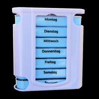 Pillendose Pillenbox Pillenturm Tabletten-Box Medikamentenbox 7 Tage / 4x proTag