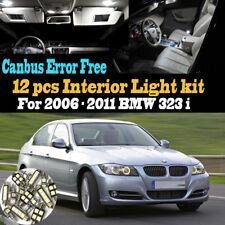 12Pc 2006-2011 BMW 323i Canbus Error Free Super White Car Interior LED Light Kit