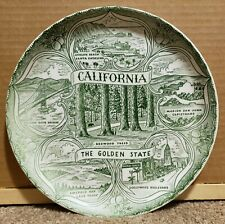 New Listing1940's California The Golden State Porcelain Souvenir Plate