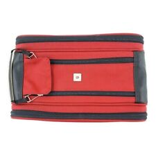 Victorinox Swiss Army Accessory Bag Travel Compartments Zipper Unisex Red Black