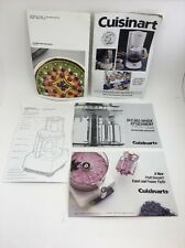 (O) Cuisinart Instruction Manuals & Recipe Booklets; Free Us Shipping
