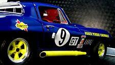 1 1967 Vette Corvette Racer Chevy Sport 18 Race Car Vintage 24 Carousel Blue 12