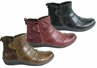 NEW PLANET SHOES CID WOMENS COMFORTABLE LEATHER FLAT ANKLE BOOTS