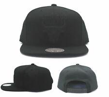 Chicago Bulls New Mitchell & Ness NBA Black on Black Tonal Era Snapback Hat Cap