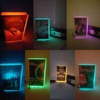 Retro Vhs Lamps,Nightlights,Horror,Scifi,Movies, Multicolour lighting