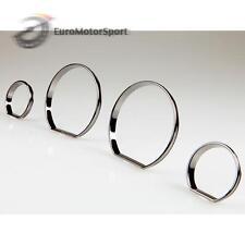* BMW E46 M3 Black Chrome Cluster Dashboard Dial Gauge Rings