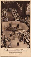 CORONATION 1937. Queen Elizabeth King George VI crowned. Westminster Abbey 1937