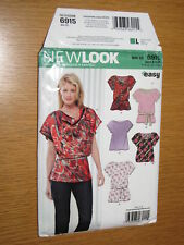 New Look Pattern 6915 Misses Easy Sew Cowl Neck Tunic Top Sz 8 10 14 16 18 UNCUT