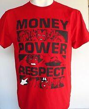 Marvel Money Power Respect Red's T-Shirt Size Medium