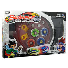 4D Metal Master Rapidity Fusion Fight Beyblade Stadium Launcher Grip Set Kid Toy