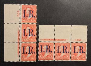 TDStamps: US Revenue Stamps Scott#R155 (2) Mint LH OG 2 P#Strip of 3
