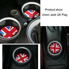 Union Jack Checkered Soft Silicone Cup Holder Coasters For MINI Cooper # 2 pcs