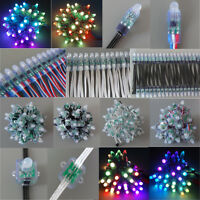 25-1000PCS WS2811 RGB Square Round Module String Strip Light Waterproof 5V 12V