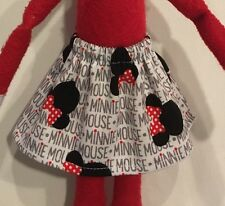 CHRISTMAS ELF SKIRT DISNEY MINNIE MOUSE NAME EARS HEADS + BOWS GIRL DOLL CLOTHES