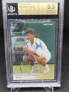 2003 Netpro Tennis #70 Rafael Nadal Parera BGS 9.5 Gem Mint SPAIN Rookie Card RC