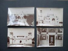 ensemble 7 photos anciennes années 1900 - Taj Mahal - Agra - Inde