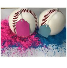 Baby Girl Gender Reveal Ball with Baseball Design and Pink and blue Powder