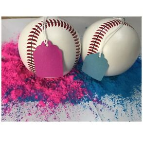 Baby Gender Reveal Baseball Pink & Blue Powder