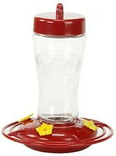 Apollo Invest. Holding (#3910) Etched Glass Hummingbird Feeder, Four Port, 12 oz