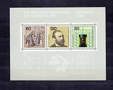 ALLEMAGNE Germany Bloc Feuillet Yvert N° 18 Neuf Luxe XX Congrés HAMBOURG UPU