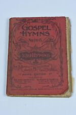 1895 John Church Co. GOSPEL HYMN Nos 1 to 6 Booklet - 739 Hymns Agate Edition