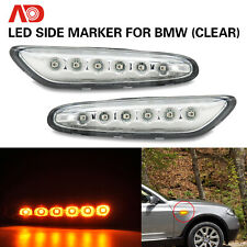 2x LED Side Marker Turn Signal Light For BMW E46 E60 E61 E81 325i 330i 328i 335i