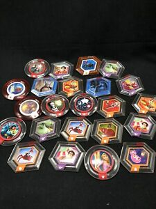 Disney Infinity Power Discs Lot 20+ Marvel Mulan Tarzan Spiderman etc