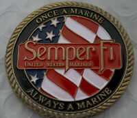 * US Marine Corps Challenge Coin Semper FI USMC Core Values Marine Collectible