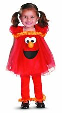 Disguise Girl's Sesame Street Frilly Light Up Elmo Costume, 2T