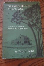1966 First Edition RARE German Seed In Texas Soil TEXANA Book Terry Jordan