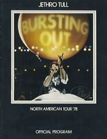 JETHRO TULL 1978 BURSTING OUT NORTH AMERICAN TOUR CONCERT PROGRAM BOOK