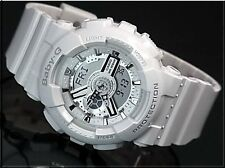 BA-110-7A3 White Baby-G Casio Ladies Watches Digital Resin Band