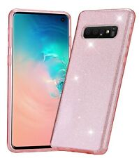 For Samsung Galaxy S10 Glitter Shiny Pink Case for Women Ladies Girls S10 Pink