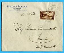 1933 P.AEREA DECENNALE c.50  ISOLATO E USATO COME ORDINARIO (278647)
