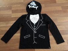 Boys Tony Hawk Black Long Sleeved Hooded Monster Vampire Shirt Halloween Tuxedo